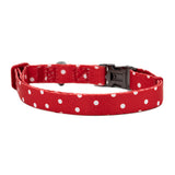Nylon Dog Collar - Red Polka Dot