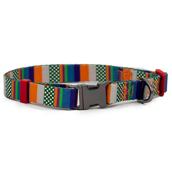 Nylon Dog Collar - Urban Stripes
