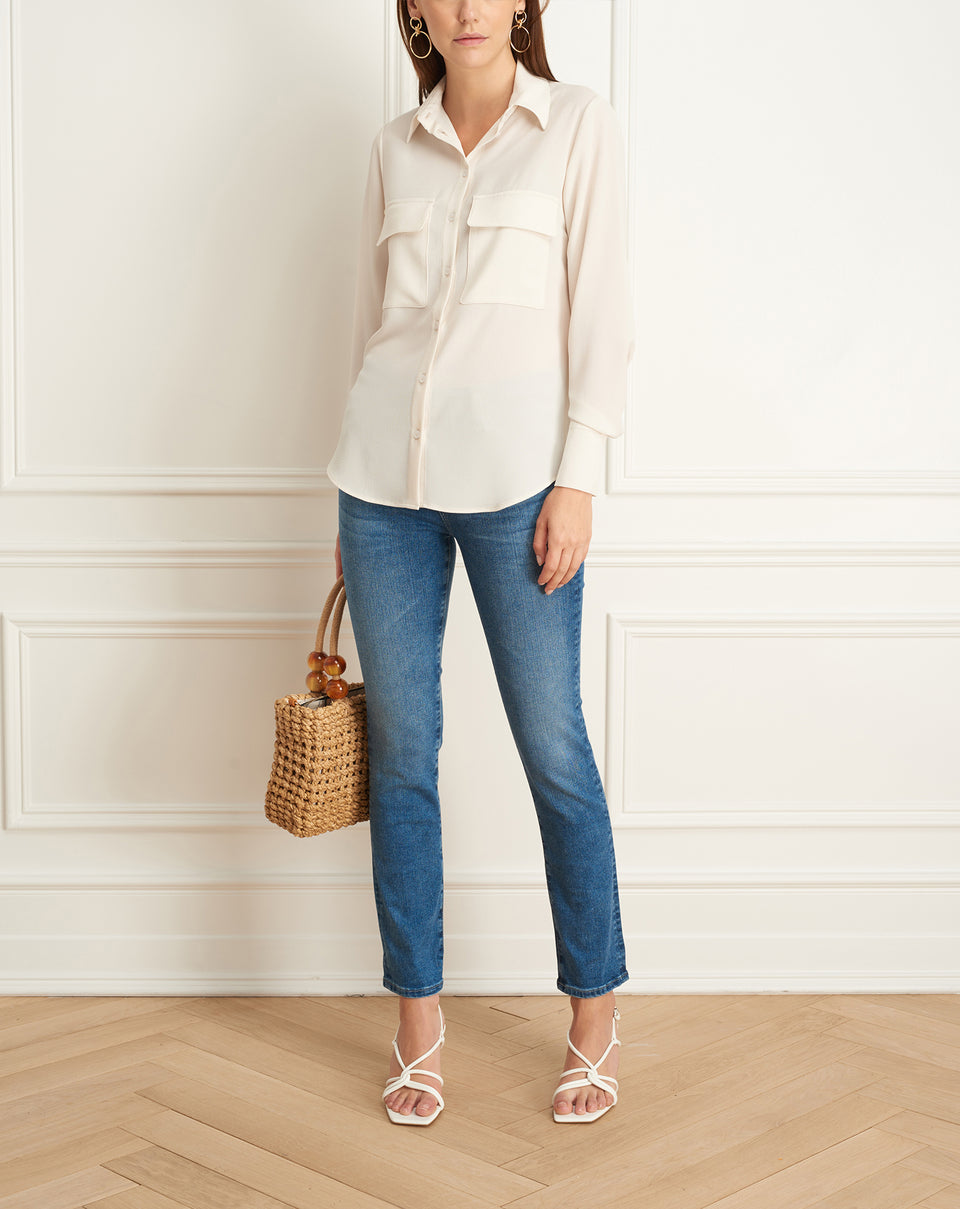 Long Sleeves Blouse With Pockets