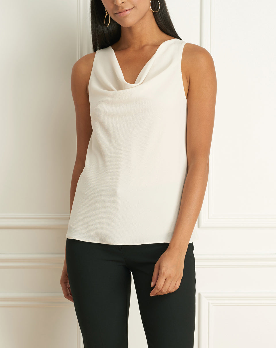 Cowl Neck Sleeveless Blouse