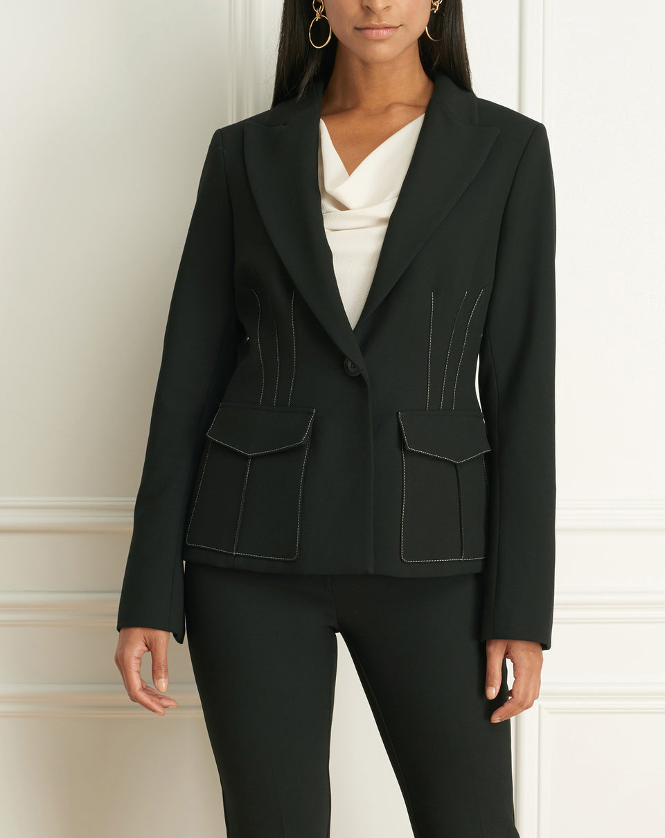Colette Single Button Jacket With pockets