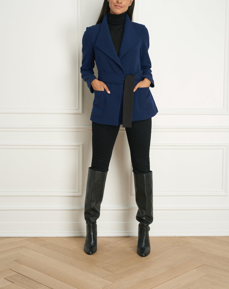Belted Jacket With Pokets