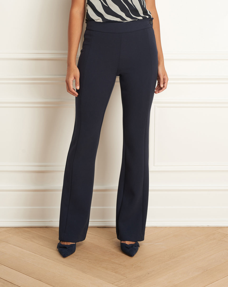 Straight Leg Pant with Side Button