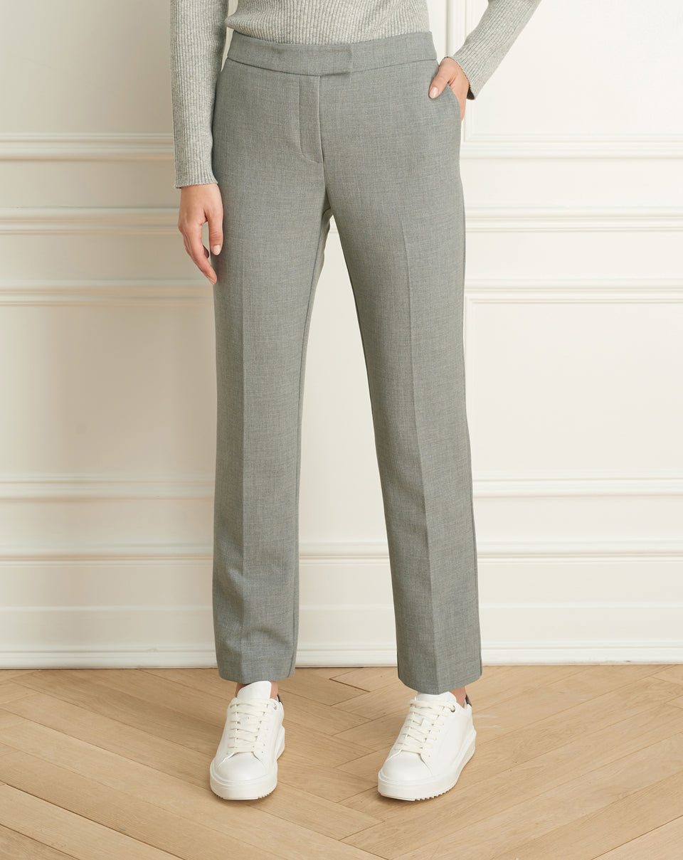 Double Face Wide Cigarette Pant