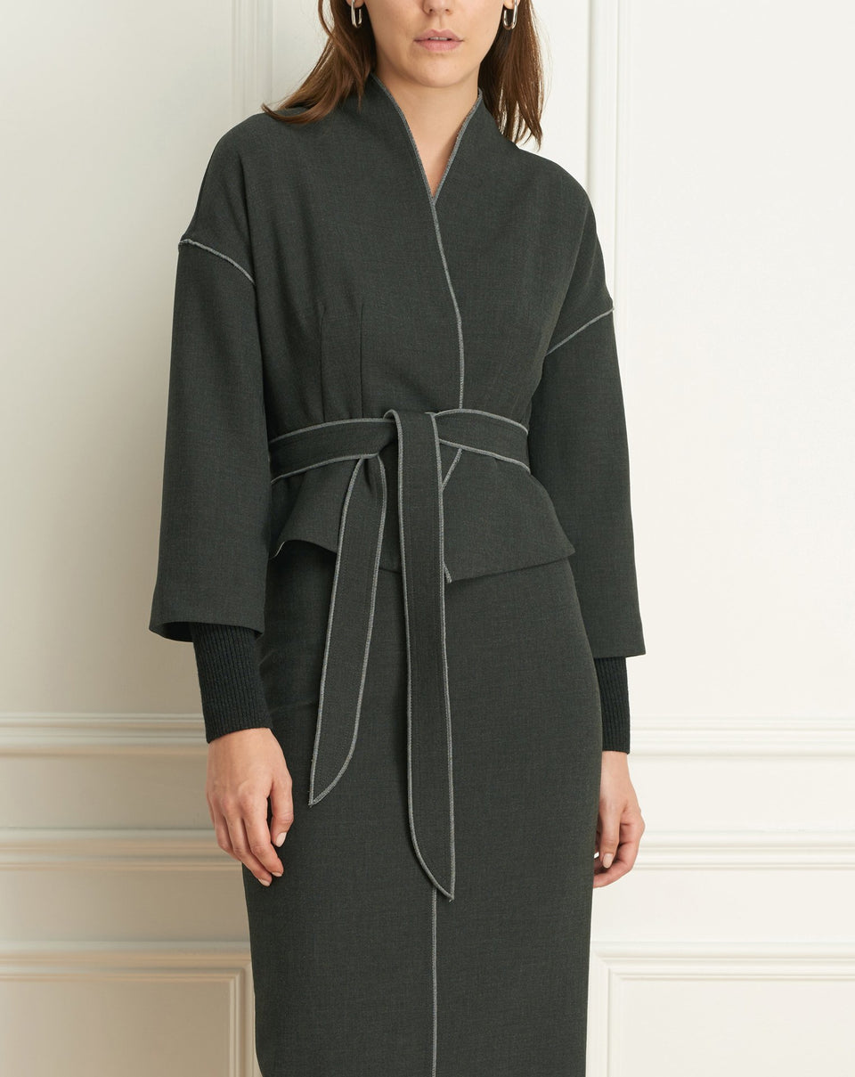 Double Face Kimono With Belt