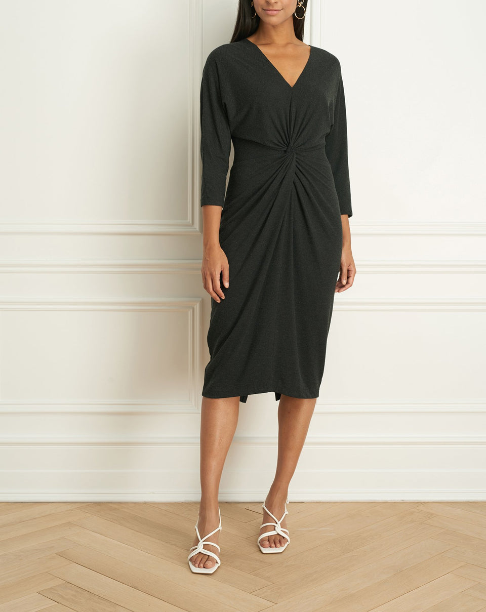 Jersey Long Sleeve Knotted Dress