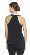 Sleeveless With Black Leather Shoulder Straps