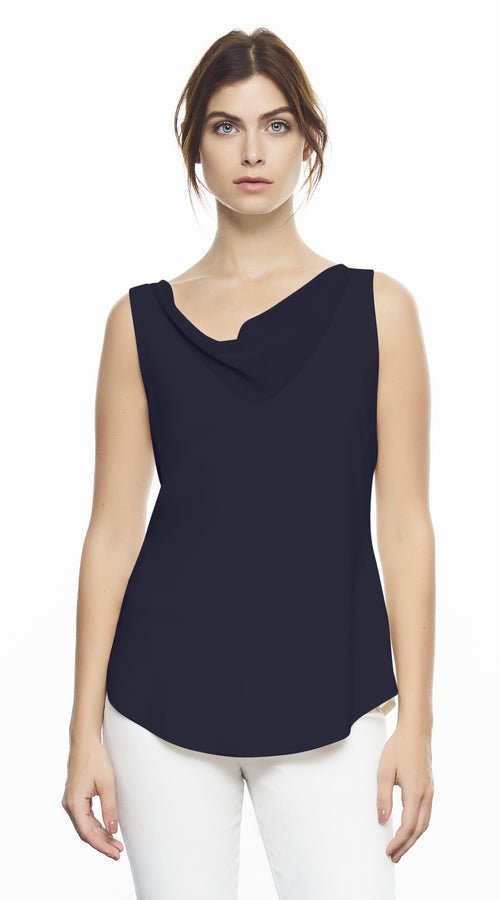 V-Neck Cami With Draped Vanessa Chiffon Detail
