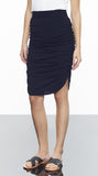 Rouched Knee Lenght Skirt