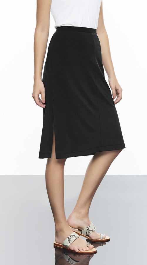 Midi Lent Skirt With Side Slit