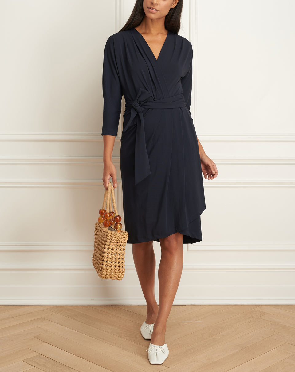 Wrap Dress With Raglan Sleeves