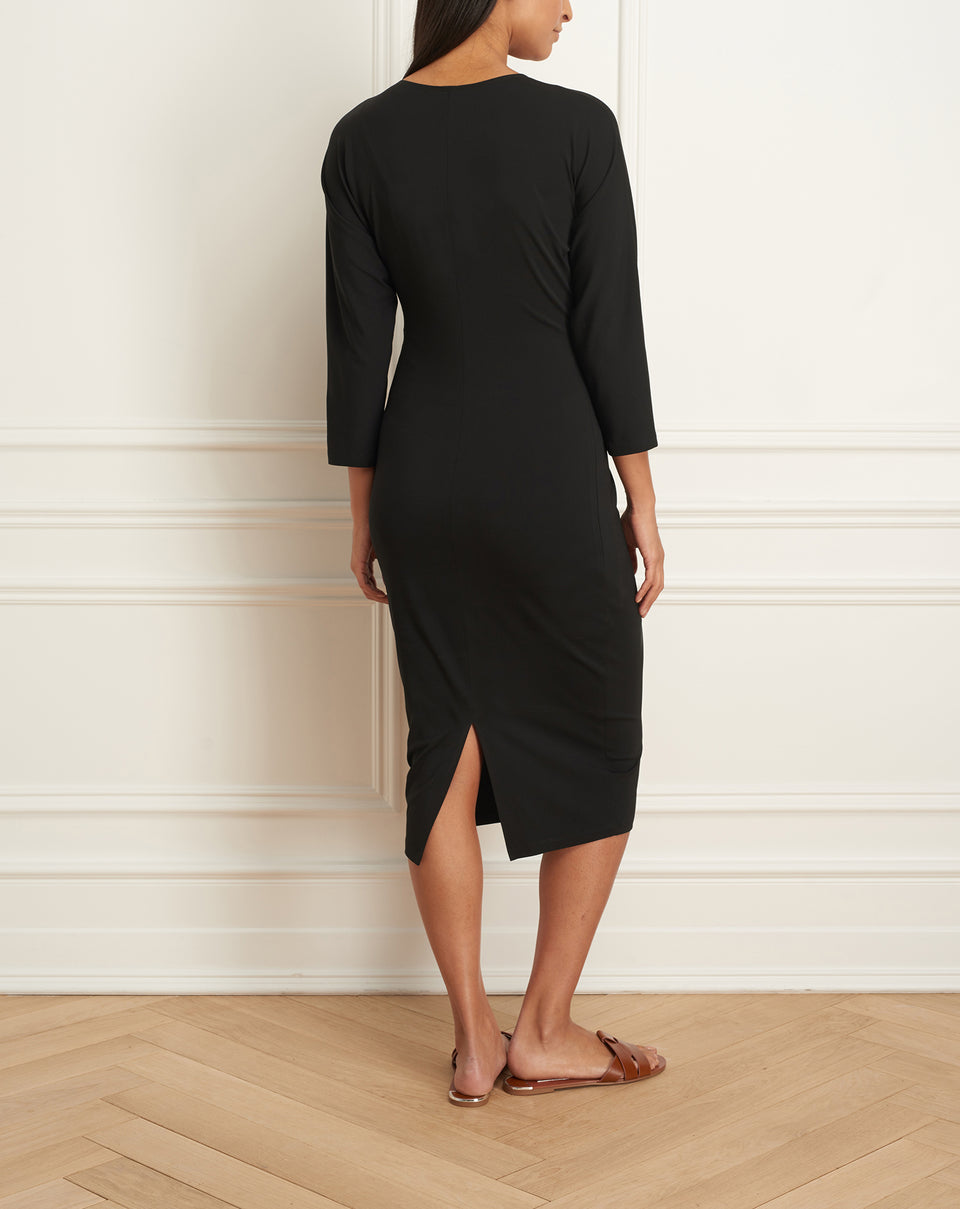 Dress With Raglan Sleeves And Knot Detail