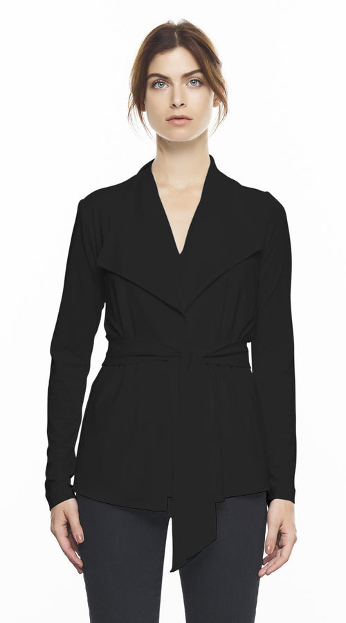 Long Sleeve Jacket With Built In Belt