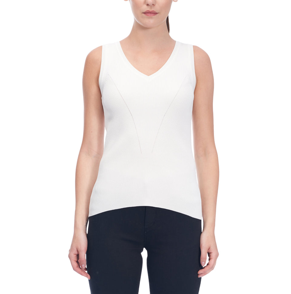 Viscose Blend V Neck Sleeveless Sweater