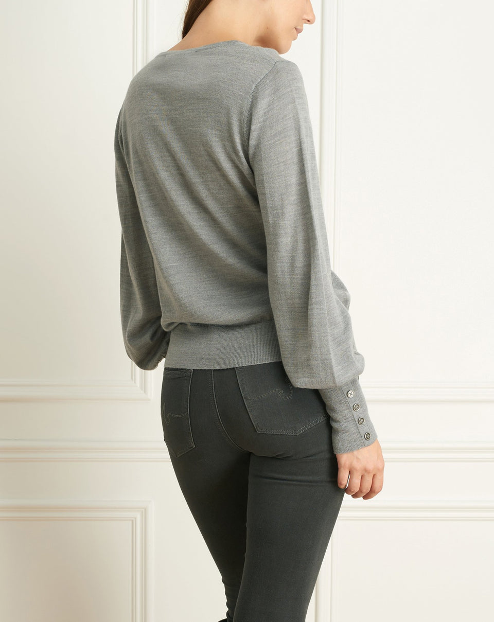 Merino Blend V-Neck Sweater