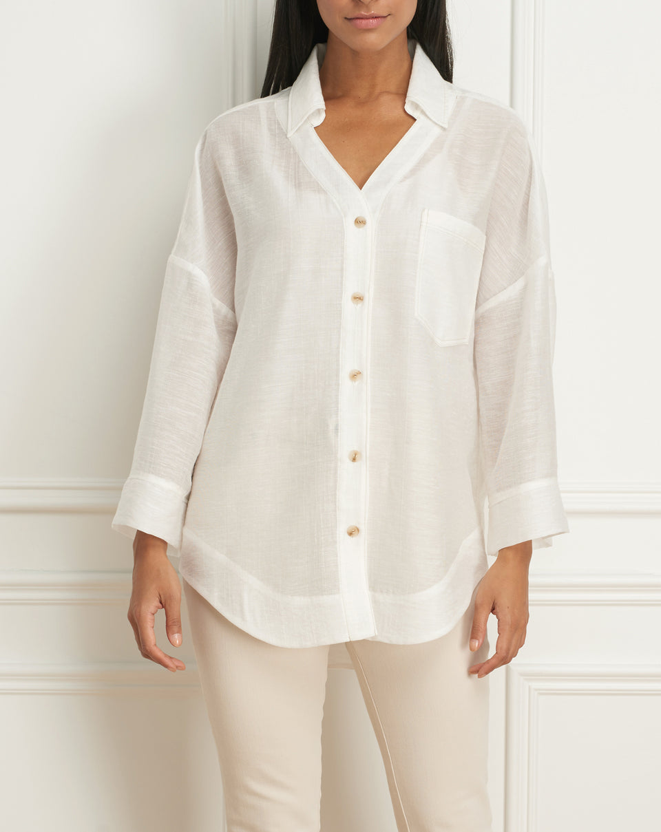 Overshirt wth bell sleeve