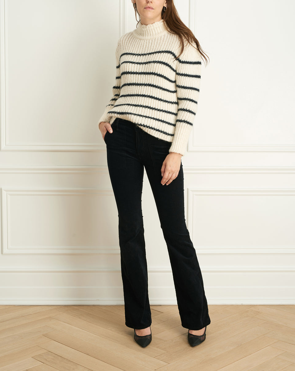 Alpaca Wool Blend Striped Sweater