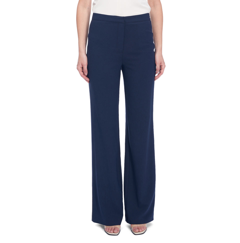 Wide Leg Pant Wth Contrasting Top Stitch