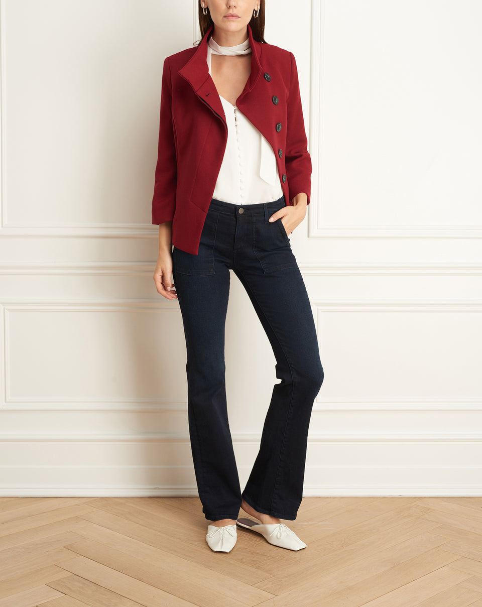 Jacket With Flare Sleeves
