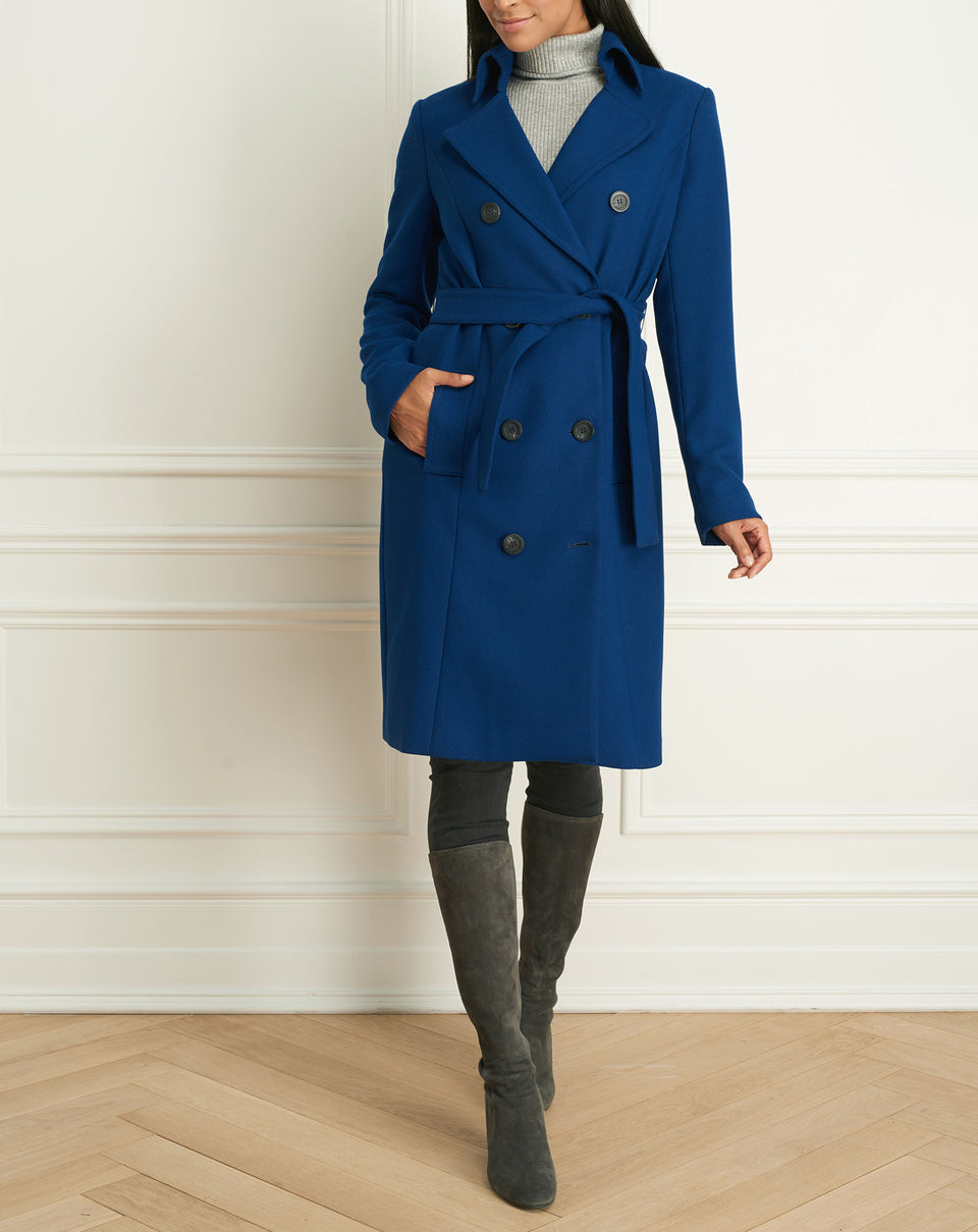Sweater Twill Trench Coat