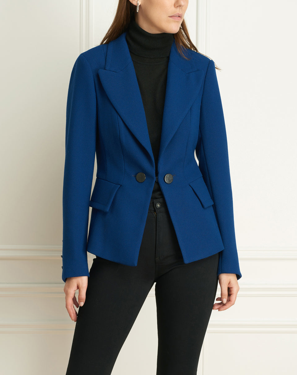 Sweater Twill Jacket With Pockets