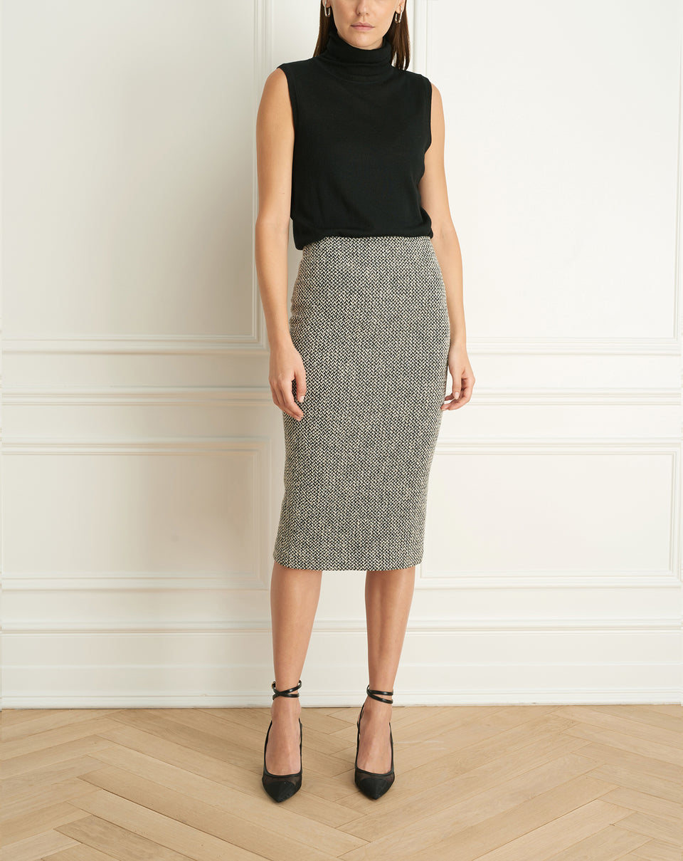 Tweed Mid Calf Skirt