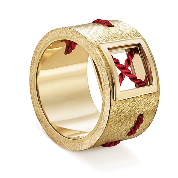 Ring LUXURY NO STRESS X 750 Gelbgold - X-Design