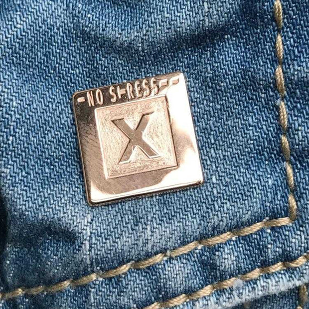 Pin NO STRESS 925 Silber - X-Design by Beatrice Müller