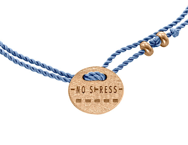 Armband NO STRESS 925 Silber Roségold platiniert - X-Design by Beatrice Müller