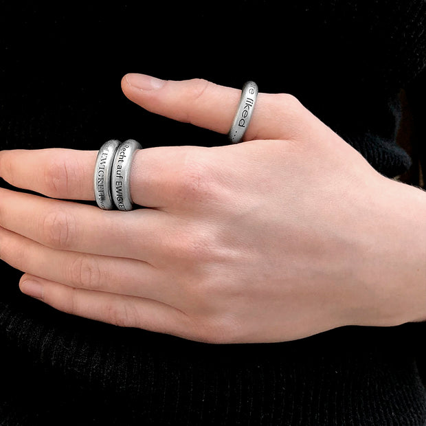 Ring I LIKE YOU Edelstahl - X-Design
