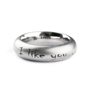 Ring I LIKE YOU Edelstahl - X-Design by Beatrice Müller