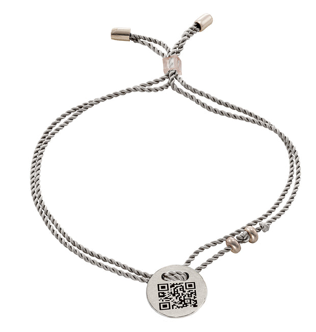 Armband QR-Code I LOVE YOU 925 Silber weiß palladiniert - X-Design by Beatrice Müller