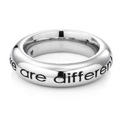 Ring WE ARE LIKED... WE ARE DIFFERENT Edelstahl - X-Design