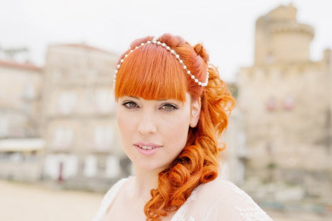 The Feathered Head AmbientImage Photography Italy bridal headpiece shoot WeddingLovely blog