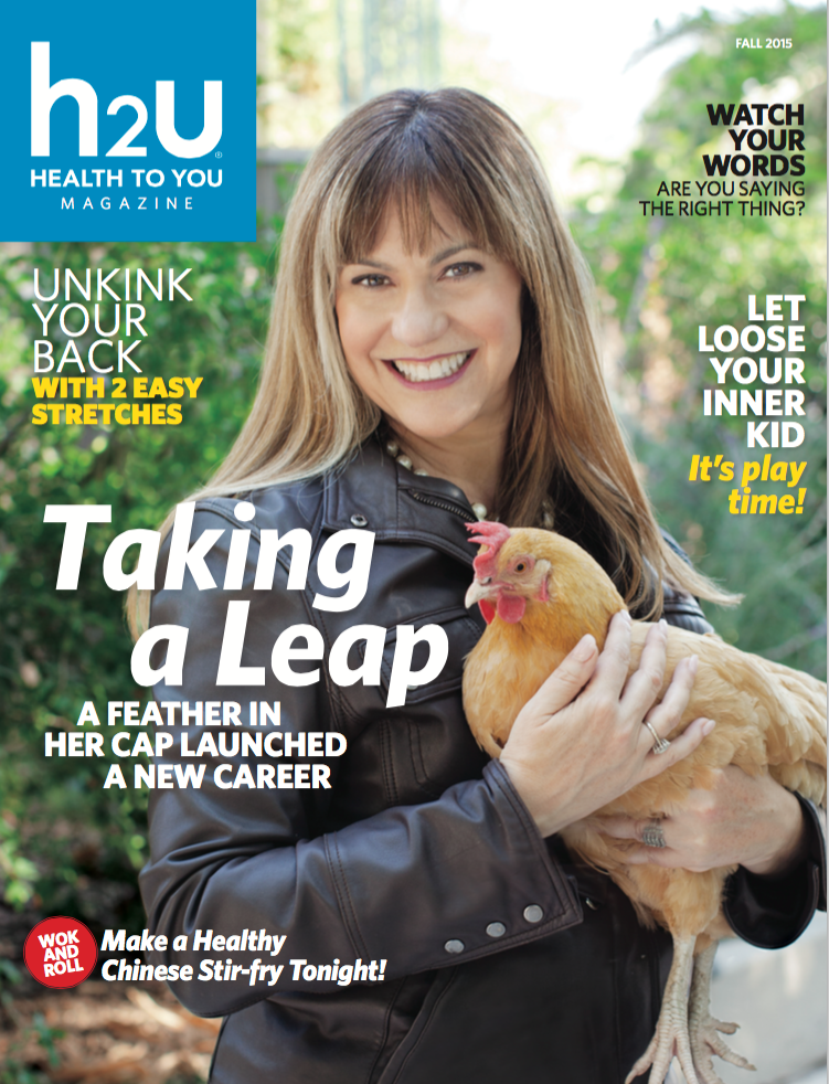Andie Cohen Healy Health To You H2U Magazine Cover The Feathered Head