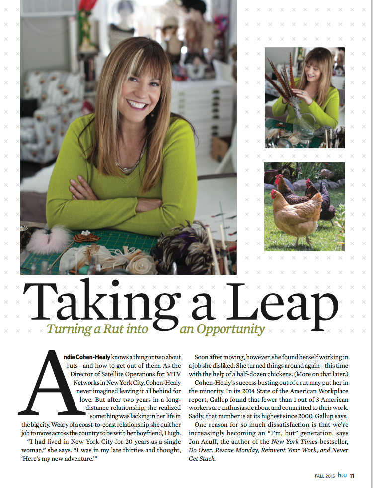 Andie Cohen Healy Health To You H2U Magazine Article The Feathered Head