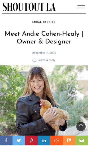 Andie Cohen Healy The Feathered Head Shoutout LA digital article starting a business