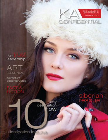 The Feathered Head vintage hat on Cover KA Confidential Magazine Kaiser Air