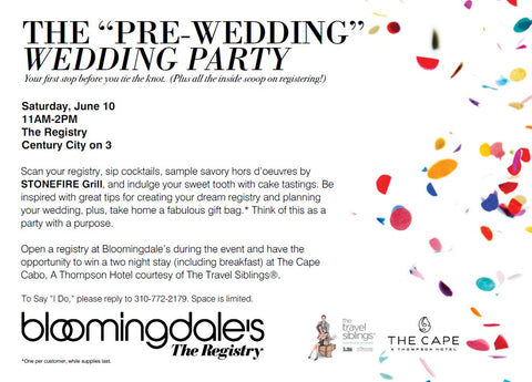 Bloomingdales Wedding Registry.News Tagged Bloomingdales The Feathered Head