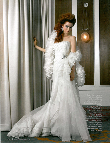 Inside Weddings Magazine The Feathered Head Bridal Wedding Feature