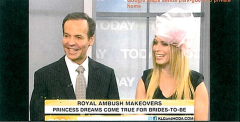 Today Show Kathie Lee Hoda The Feathered Head Royal Wedding Makeover Ambush