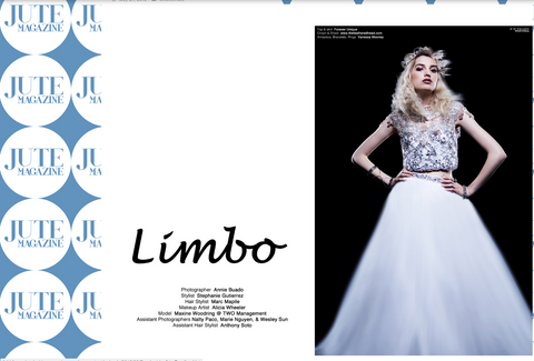 "Jute Magazine ""Limbo"" Fashion Webitorial The Feathered Head"
