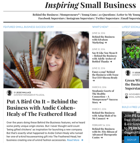"Andie Cohen Healy FS Local Blog ""Behind the Business"""