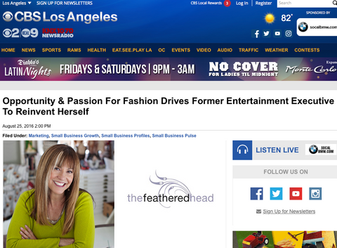 Andie Cohen Healy CBS Small Business Pulse Los Angeles The Feathered Head
