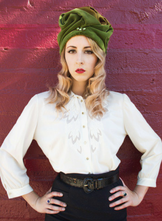 The Feathered Head Green Velvet Vintage Jessamyn Turban Hat How to Wear Fall's Most Fashionable Hats LiveAbout.com