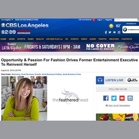 Andie Cohen Healy CBS Small Business Pulse The Feathered Head