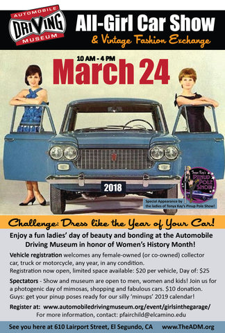 All Girl Vintage Car Show The Feathered Head Pop Up Shop