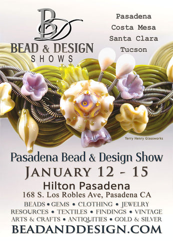 Pasadena Bead & Design Show The Feathered Head Booth C196 California Room