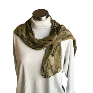 Forest Green Devore Scarf