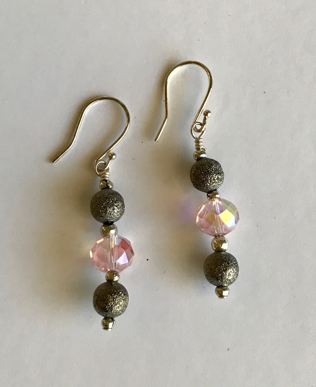Glimmering Pink Earrings